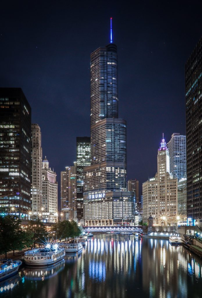 Chicago River Trump Tower