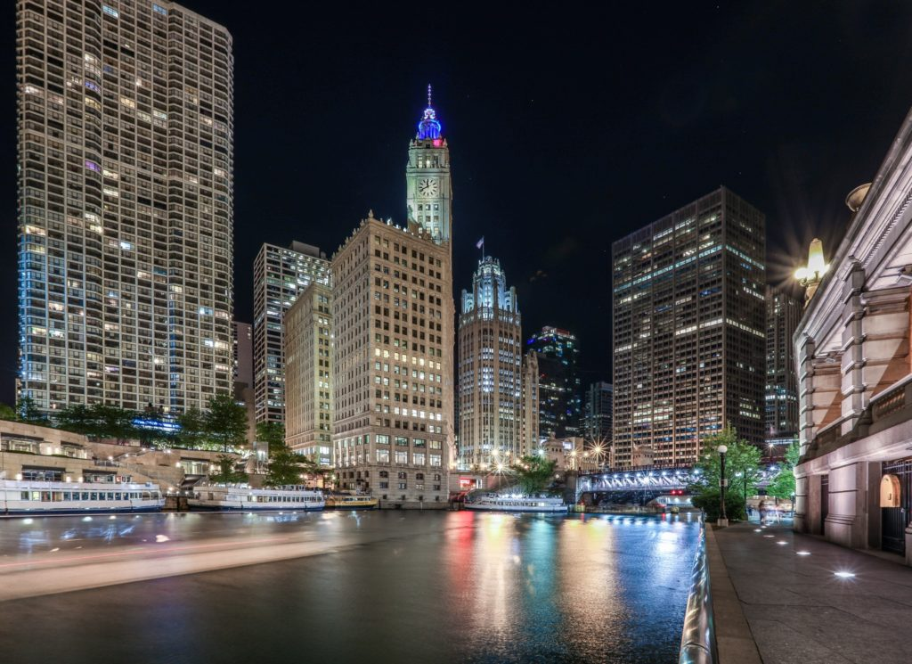Chicago river long exposure